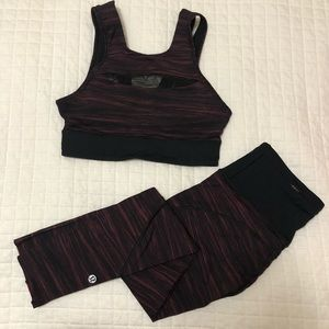 Two Piece Lululemon Sports Bra and Crops